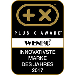Das Logo Plus X Awards für Innovation